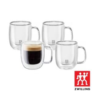 Cj. 4 Canecas para Espresso 80ml Parede Dupla Zwilling Sorrento