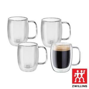 Cj. 4 Canecas para Espresso Duplo 134ml Parede Dupla Zwilling Sorrento