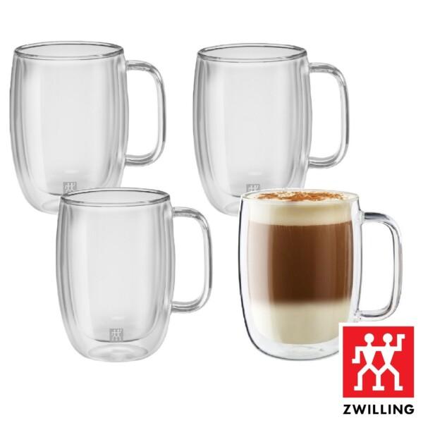 Cj. 4 Canecas para Latte 450ml Parede Dupla Zwilling Sorrento