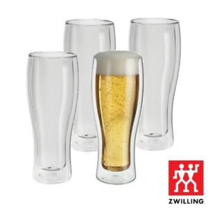 Cj. 4 Copos para Cerveja 414ml Parede Dupla Zwilling Sorrento
