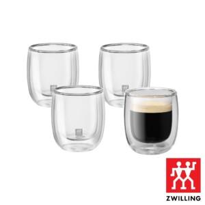 Cj. 4 Copos para Espresso 80ml Parede Dupla Zwilling Sorrento