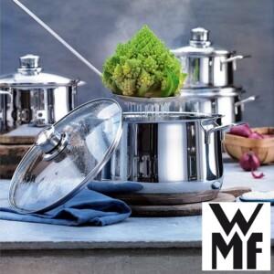 Conjunto de Panelas WMF Diadem 6 Peças de Aço Inox Tecnologia Transtherm
