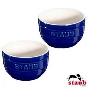 Conjunto de Ramequim Azul Marinho Staub Ceramic 8cm 2 Peças