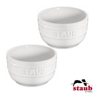 Conjunto de Ramequim Branco Staub Ceramic 8cm 2 Peças