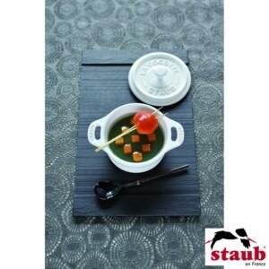 Mini Caçarola Redonda Branca Staub Ceramic 10cm