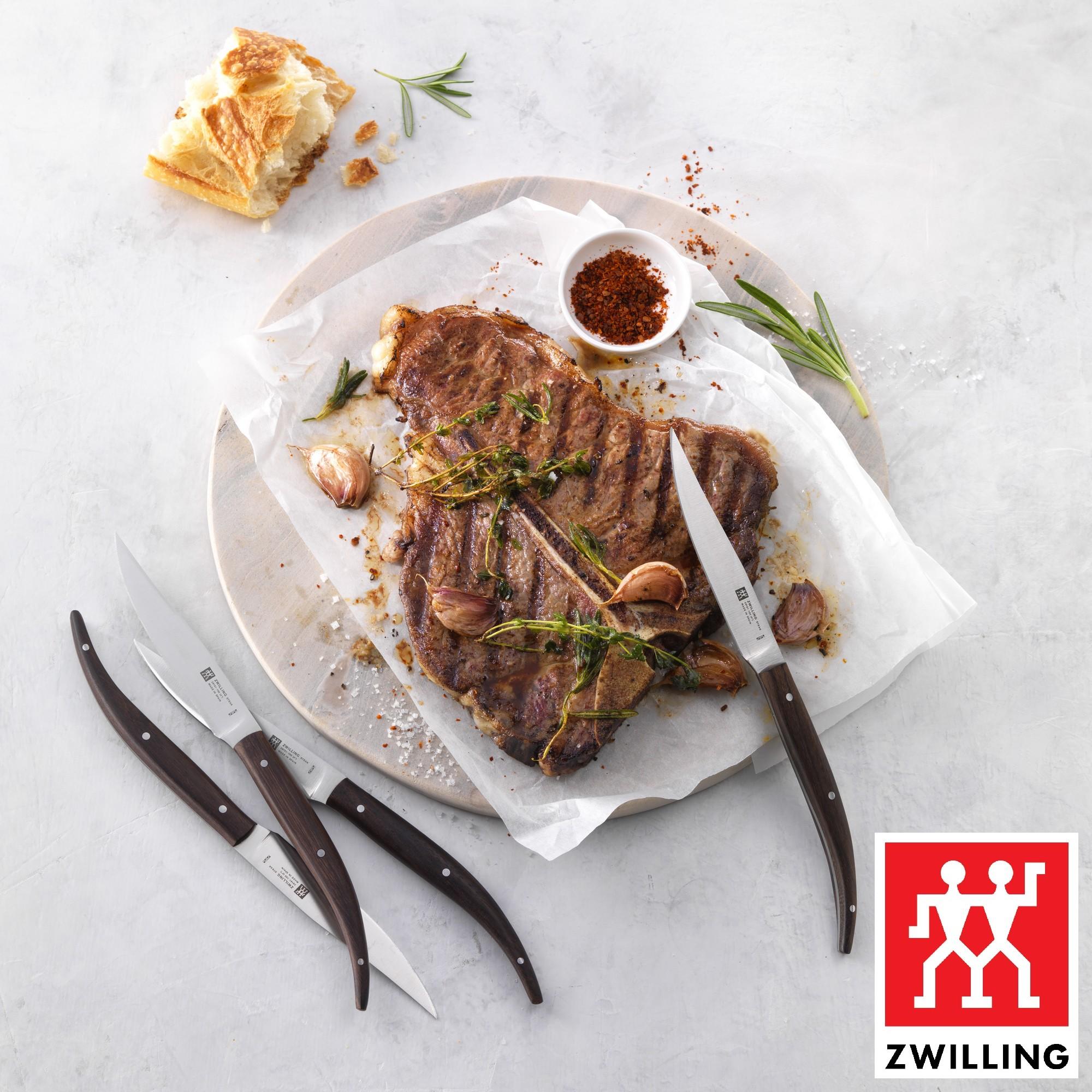 Faca para Grelhados Zwilling Steak 4 Peças Fio Liso de Aço Inox
