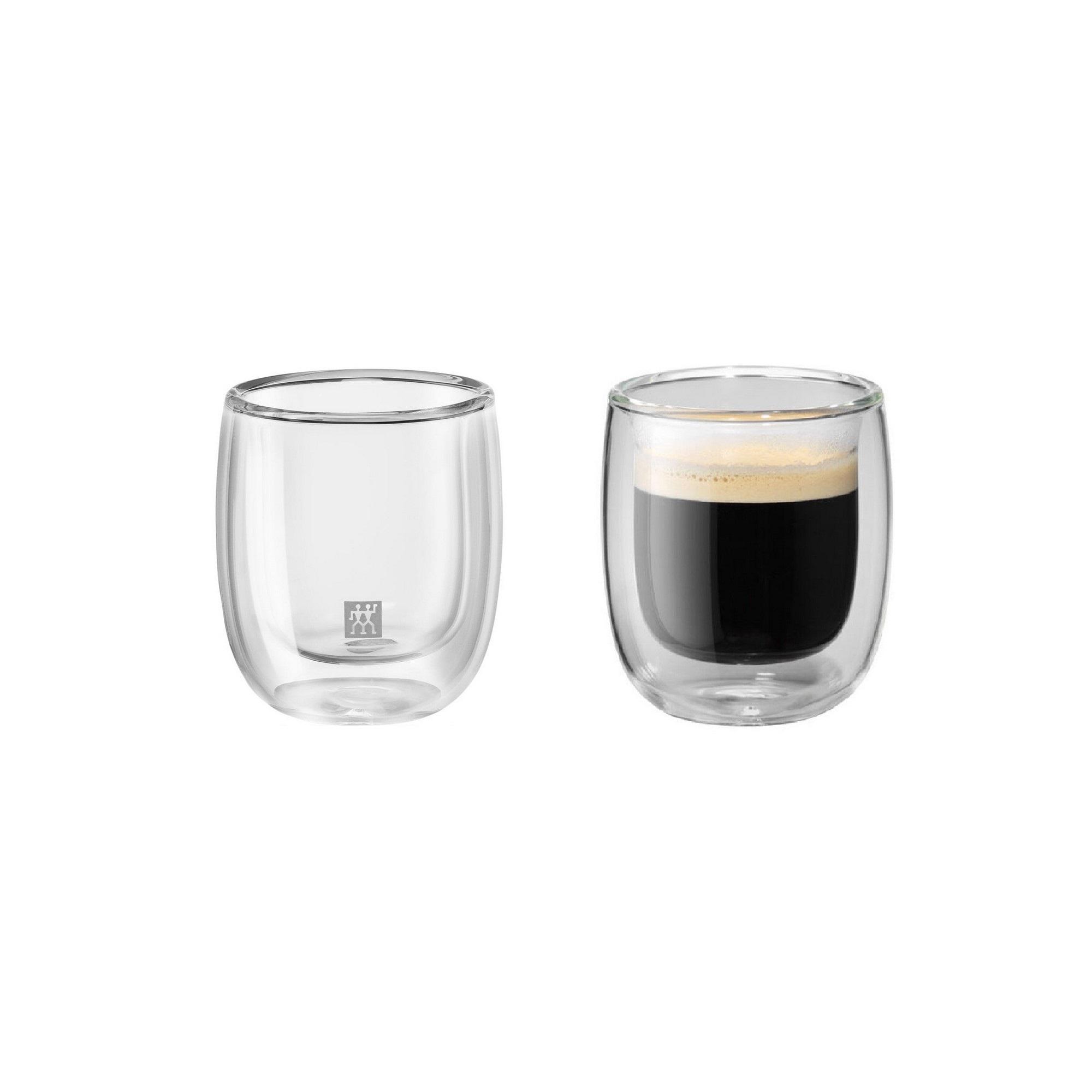 Jogo de Copos para Espresso 80ml Zwilling Sorrento 2 Peças Parede Dupla
