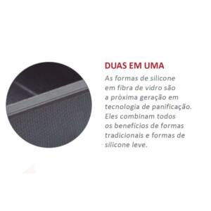 Assadeira 28cm Zenker Excellence Retangular de Silicone e Fibra de Vidro