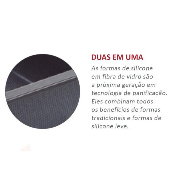 Fôrma para 6 Minibolos 28cm Zenker Excellence Retangular de Silicone e Fibra de Vidro