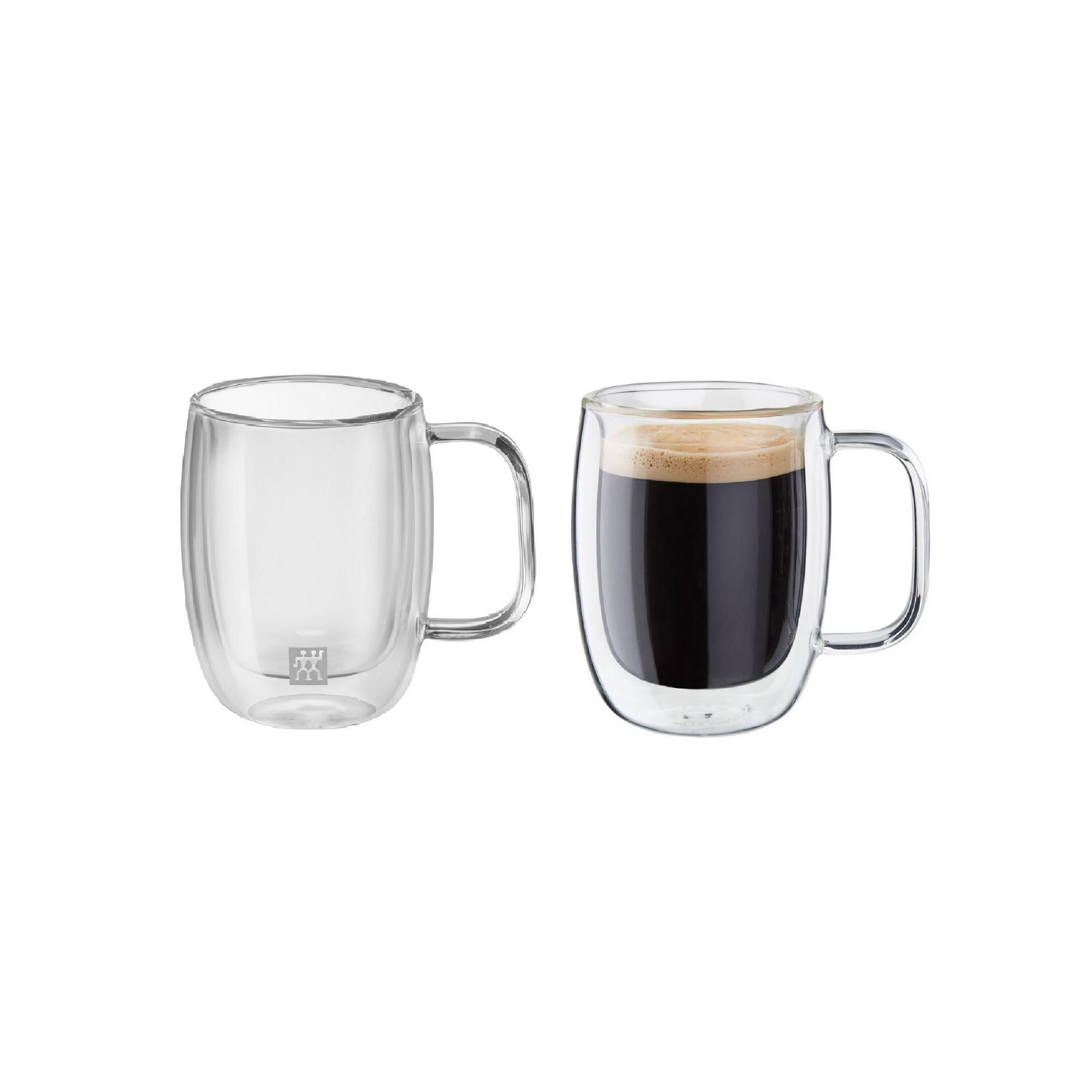 Jogo de Canecas para Espresso Duplo 134ml Zwilling Sorrento 2 Peças Parede Dupla