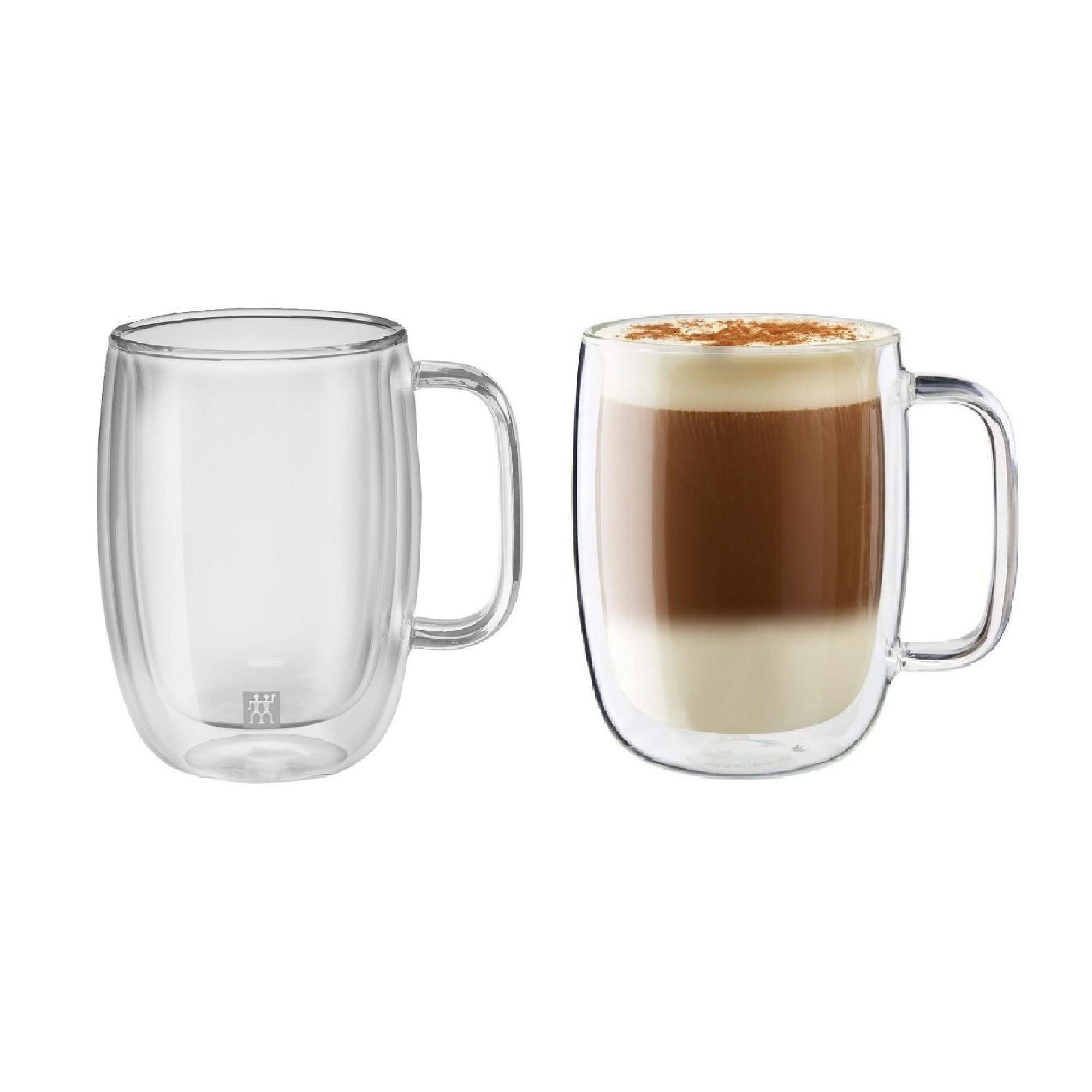 Jogo de Canecas para Latte 450ml Zwilling Sorrento 2 Peças Parede Dupla