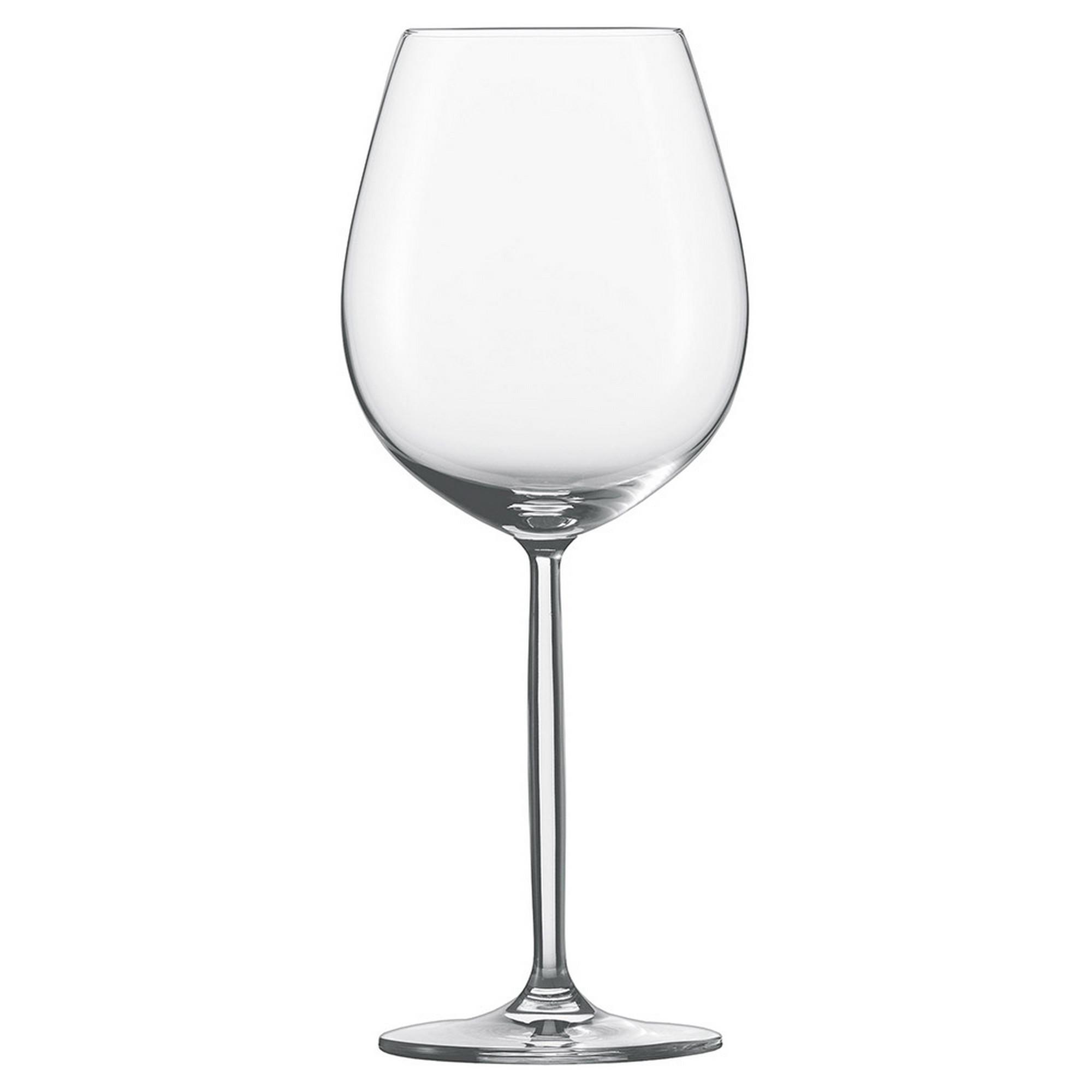 Taça para Água e Vinho Tinto 613ml Schott Zwiesel Diva 6 Peças de Cristal