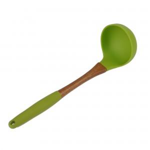Concha Terrina Verde 28cm James.F de Silicone e Madeira