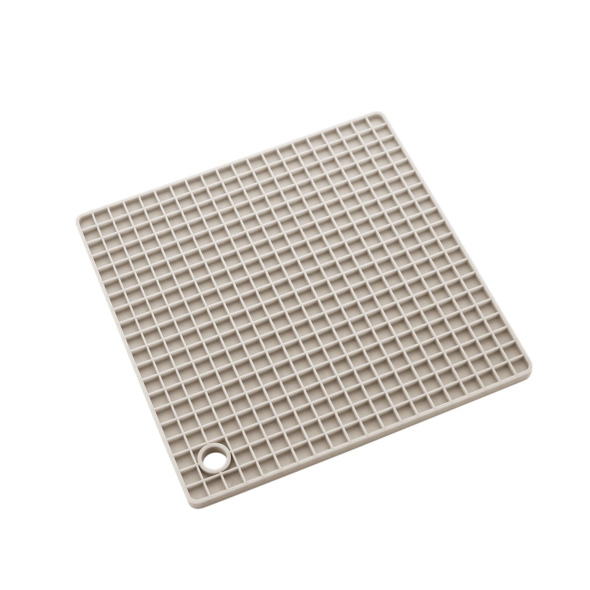 Descanso de Panela James.F 17cm Quadrado de Silicone Cinza