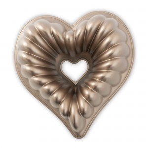 Fôrma para Bolo Nordic Ware Elegant Heart Coração 28cm Cobre de Alumínio Fundido