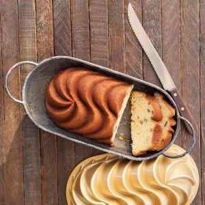 Fôrma para Rosca e Pão Nordic Ware Heritage Loaf Retangular 29cm Grafite de Alumínio Fundido