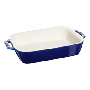 Travessa Retangular Azul Marinho 27x20cm Staub Ceramic