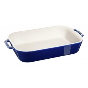 Travessa Retangular Azul Marinho 34x24cm Staub Ceramic