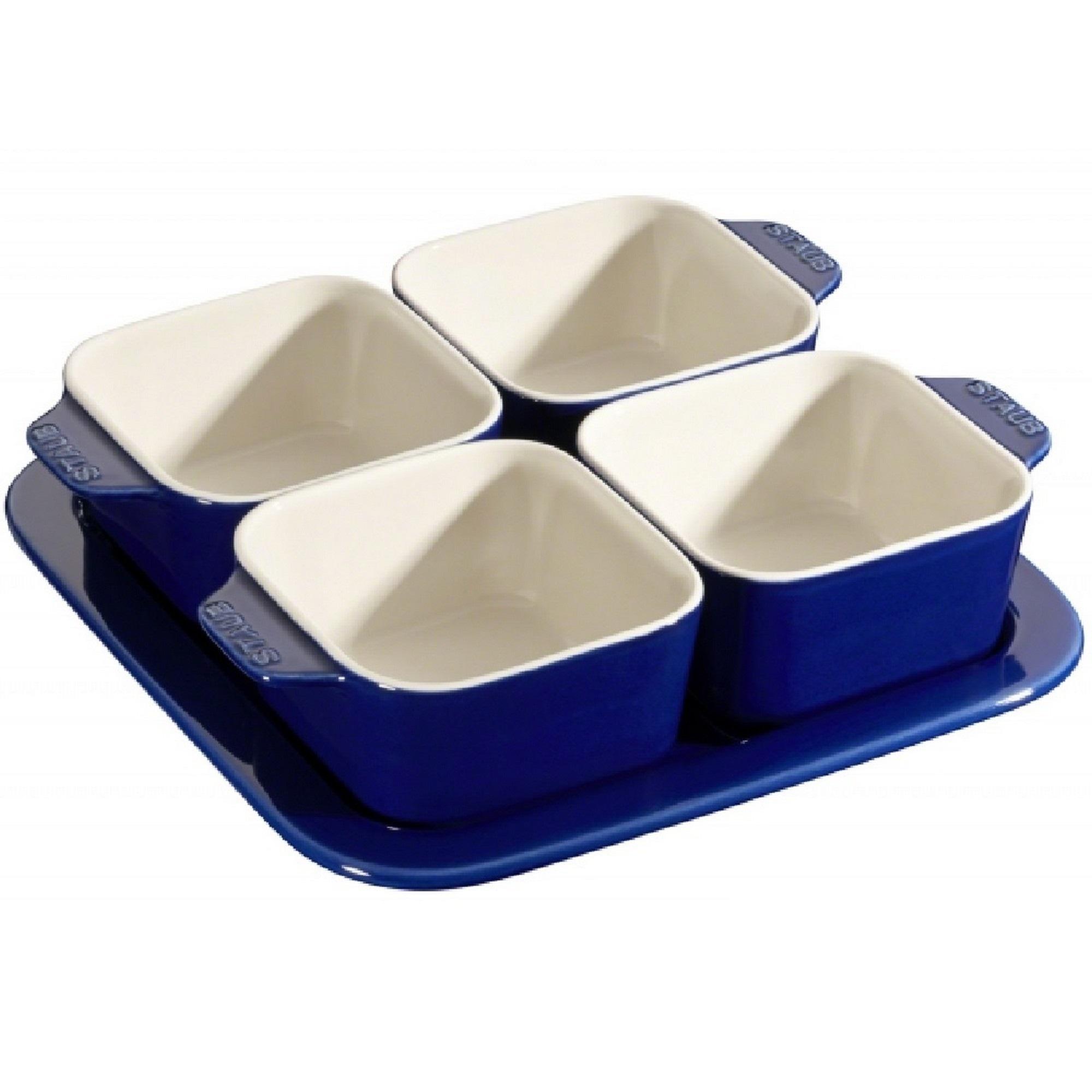 Conjunto para Aperitivos Azul Marinho Staub Ceramic