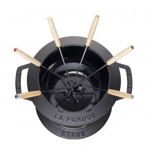 Conjunto para Fondue 20cm Preto Staub Specialties de Ferro Fundido