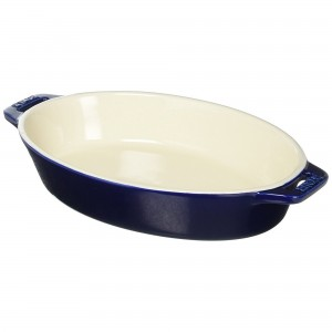 Travessa Oval Azul Marinho 23cm Staub Ceramic