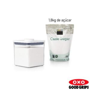 Pote Quadrado 2,6 litros Oxo Pop 2.0 com Fechamento Hermético