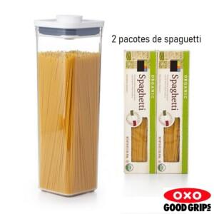 Pote Quadrado 2,1 litros Oxo Pop 2.0 com Fechamento Hermético