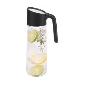 Carafe 1 litro WMF Nuro Preta de Aço Inox, Plástico e Vidro