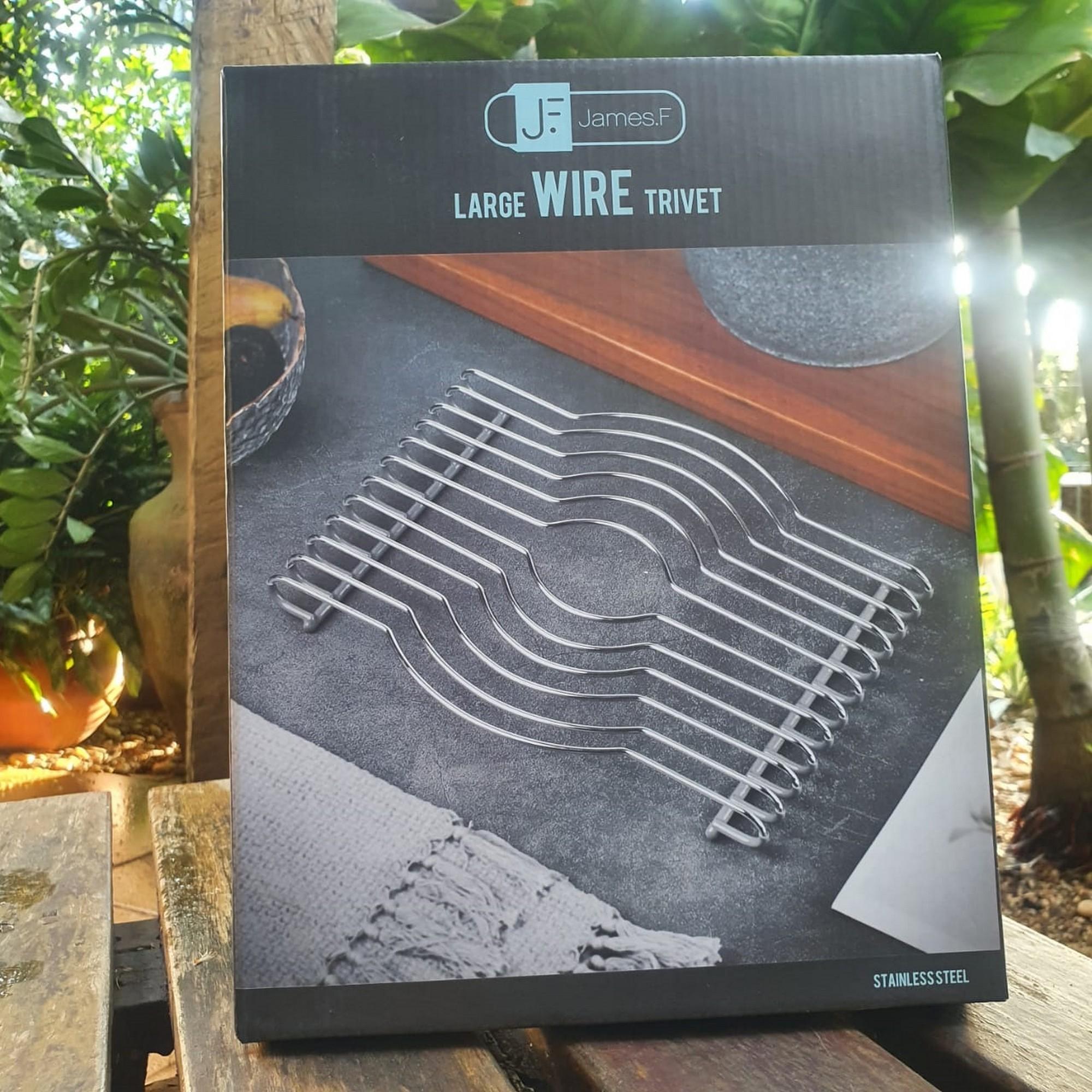 Descanso de Mesa G James.F Wire de Aço Inox