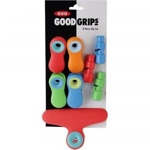 Clipes Magnéticos Oxo Good Grips 8 Peças Coloridas