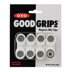 Mini Clipes Magnéticos Oxo Good Grips 8 Peças Brancos