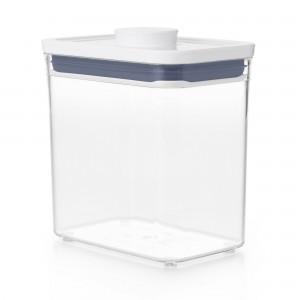 Pote Retangular 1,6 litro Oxo Pop 2.0 com Fechamento Hermético