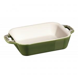 Mini Travessa Retangular Verde Basil Staub Ceramic 14x11cm