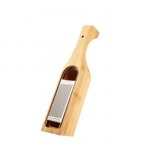 Ralador de Queijo com Dispenser James.F de Aço Inox e Bambu