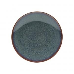 Prato de Sobremesa Wolff Reactive Glaze 22cm 6 Peças de Porcelana