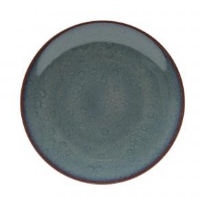 Prato Raso Wolff Reactive Glaze 28cm 6 Peças de Porcelana